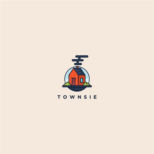 simpleness logo concept for townsie