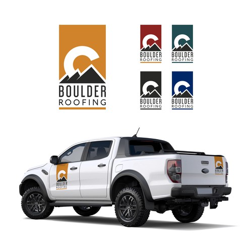 Logo for roofing company