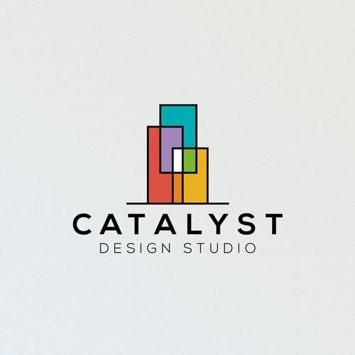Clear logo concept for Catalyst Design Studio