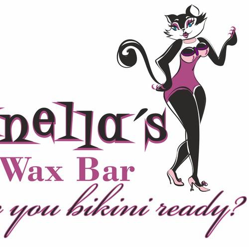 Create a fun, sexy, sassy, silly kitty silhouette for Zanella's Wax Bar.