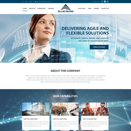 Blue Ridge Dynamics Landing Page