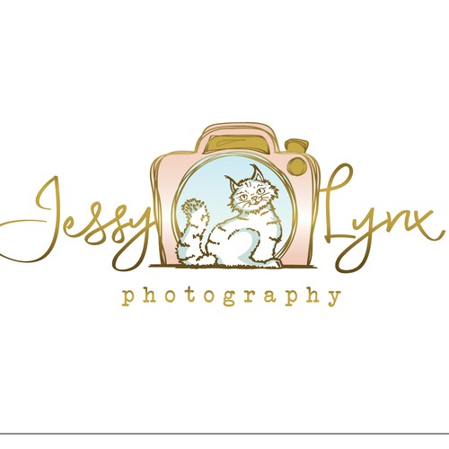 Fun Elegant Pet Photography Logo