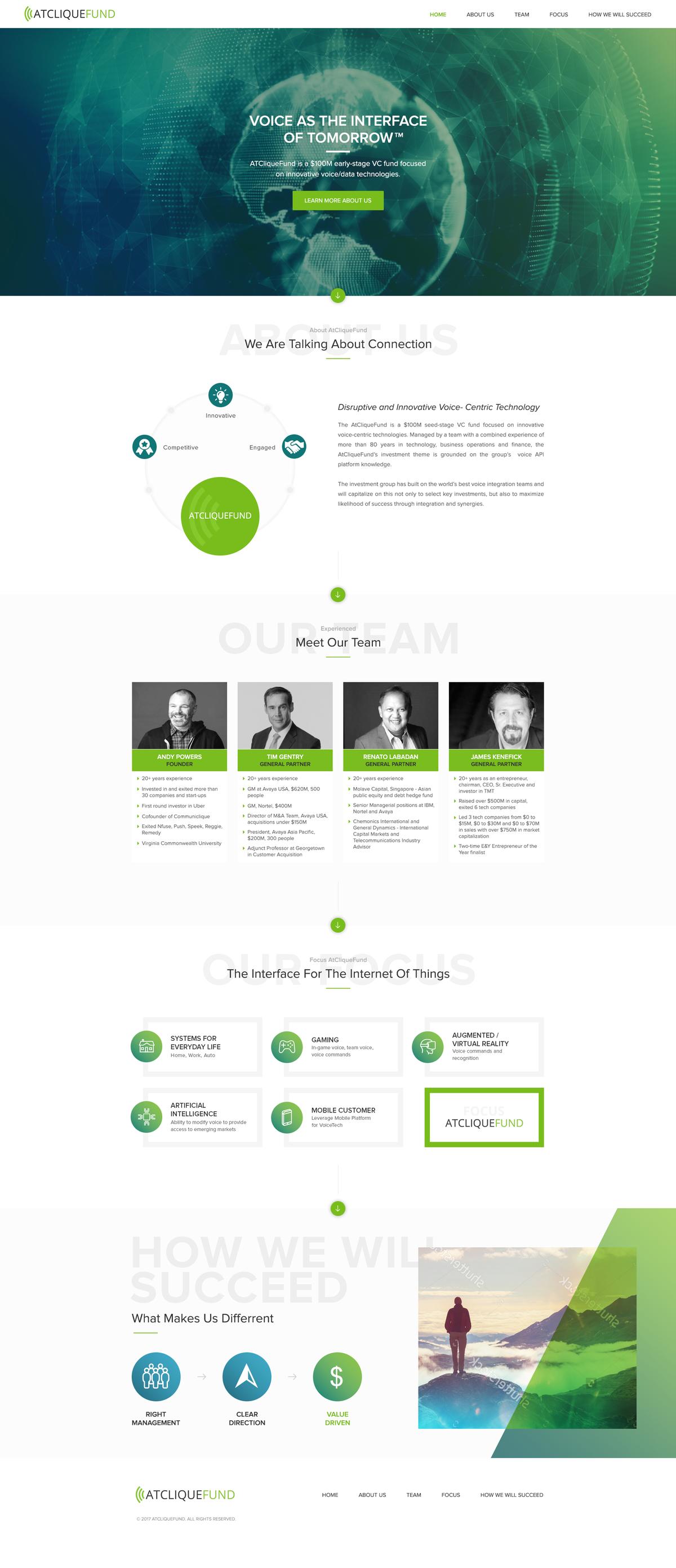 Cliquefund Website Design and Development