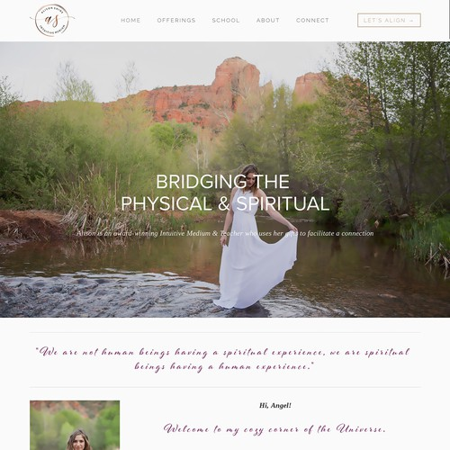 Holistic practitioner needing clean, modern, and visually-stunning Squarespace site