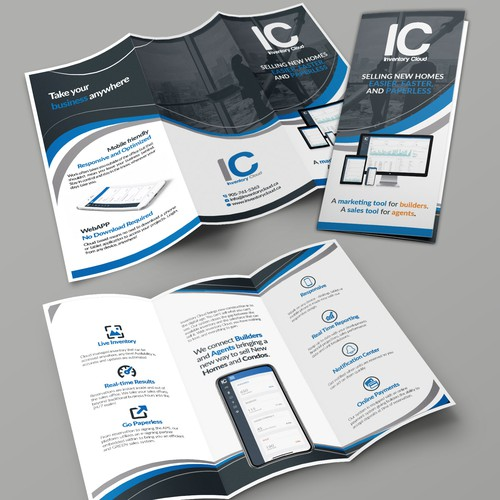 Tri-fold flyers for Trade show