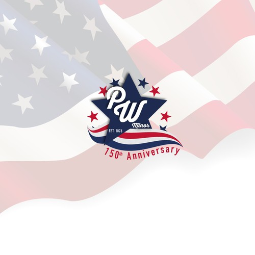 P.W. Minor 150th Anniversary Logo