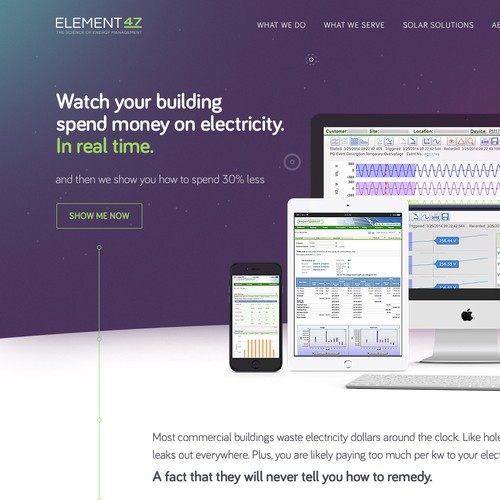 Element47 homepage design