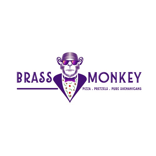 Bold logo for Brass Monkey brand.