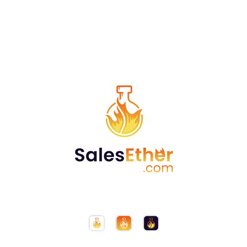 Eye Catching Fire Potion Logo for a Sales Training Website