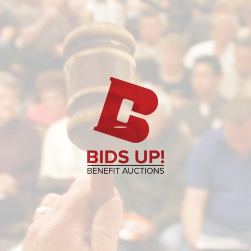 Fun & Exciting logo concept developed for BidsUp! Benefit Auctions