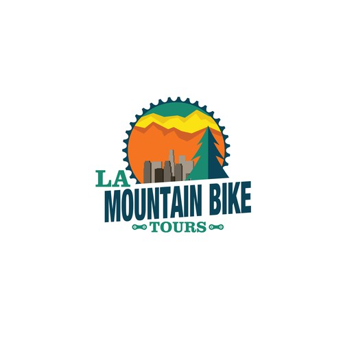 Logo Design for a Mountain Bike Tour Company