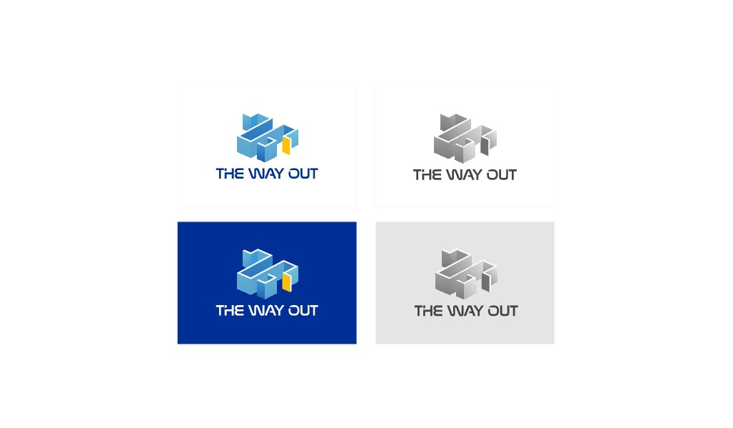 Logo for an Escape Room called 'The way out'!