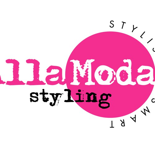 Logo Design for Alla Moda Styling
