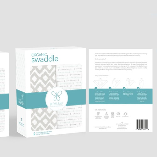 Baby Swaddle package design