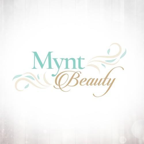 Feminine Beauty Logo with Floral Flourishes