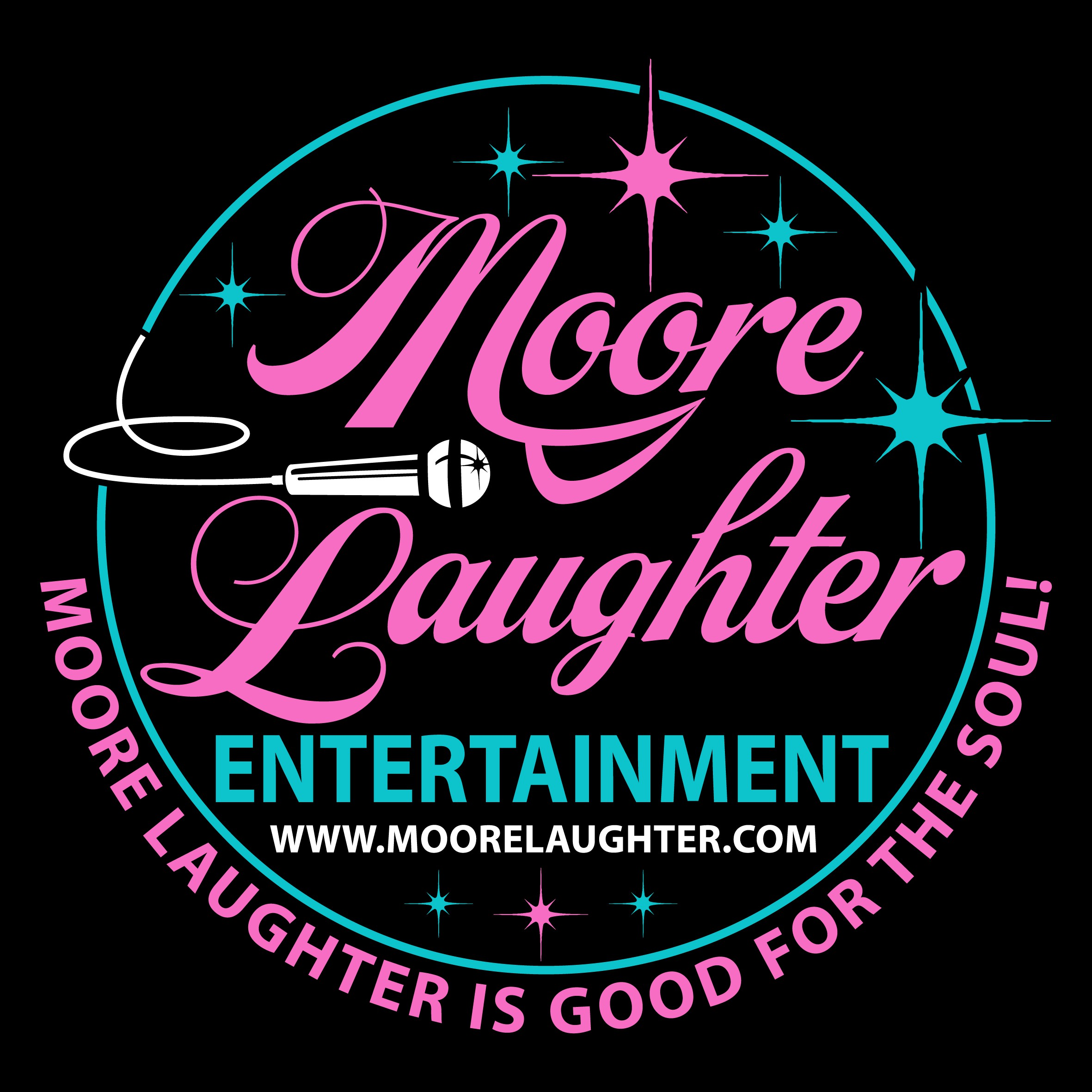 Create a logo that will bring Moore Laughter to the world.