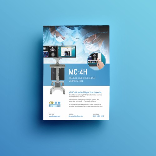 Flyer cover for a medical video recorder