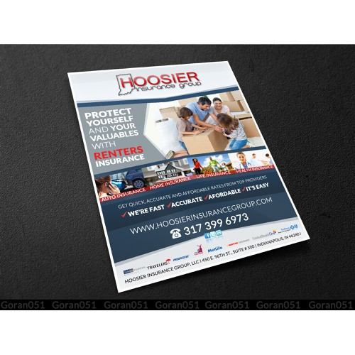 Renters Insurance Flyer - Welcome packet handouts