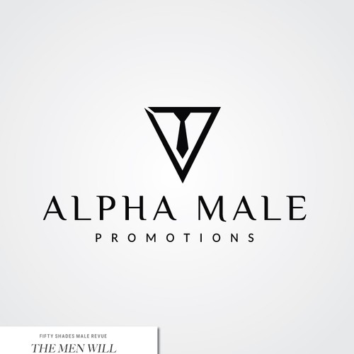 elegant logo for alpha male promotions