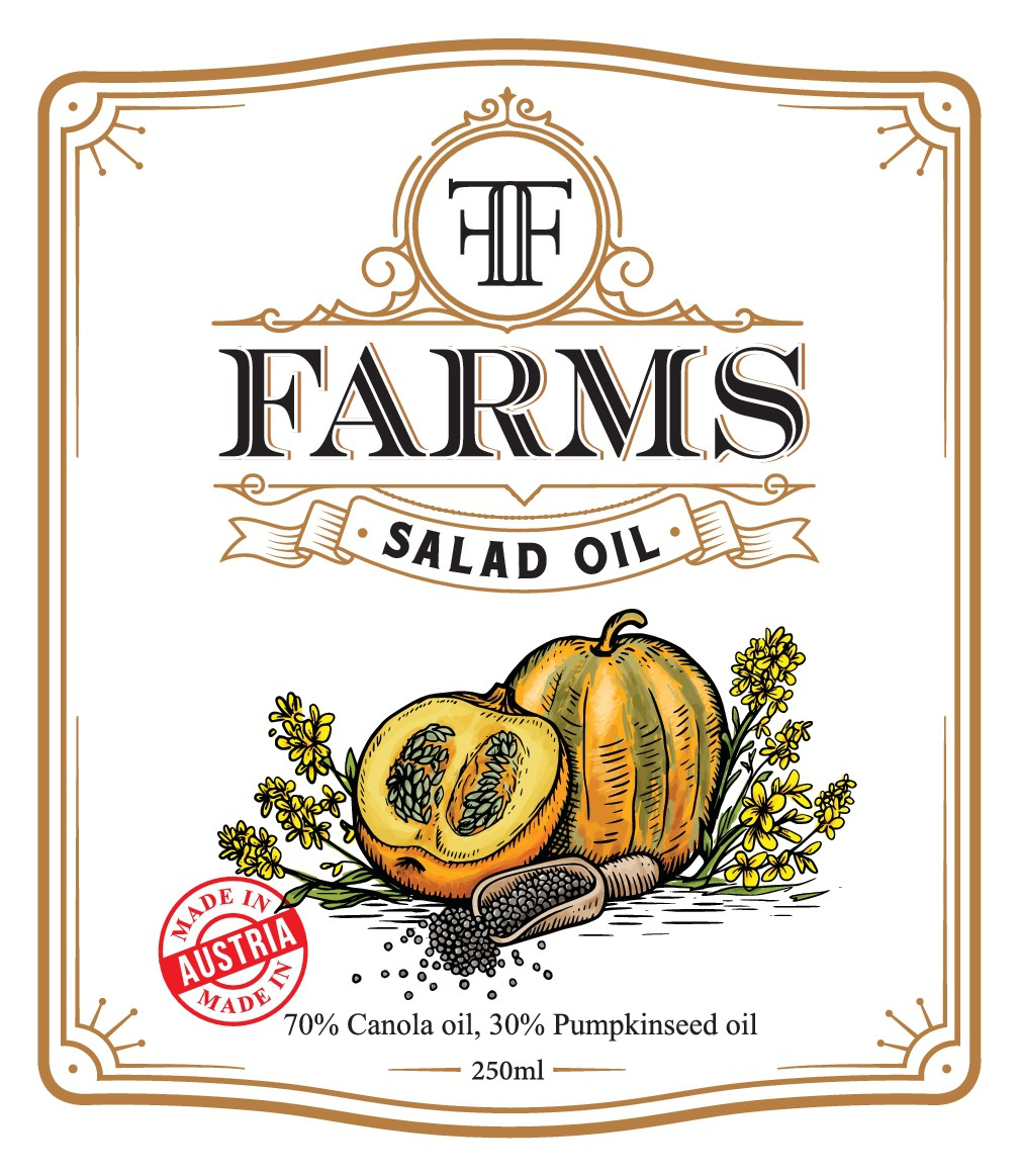 Rustic / Classic Salad Oil Label Needed Farm to Table