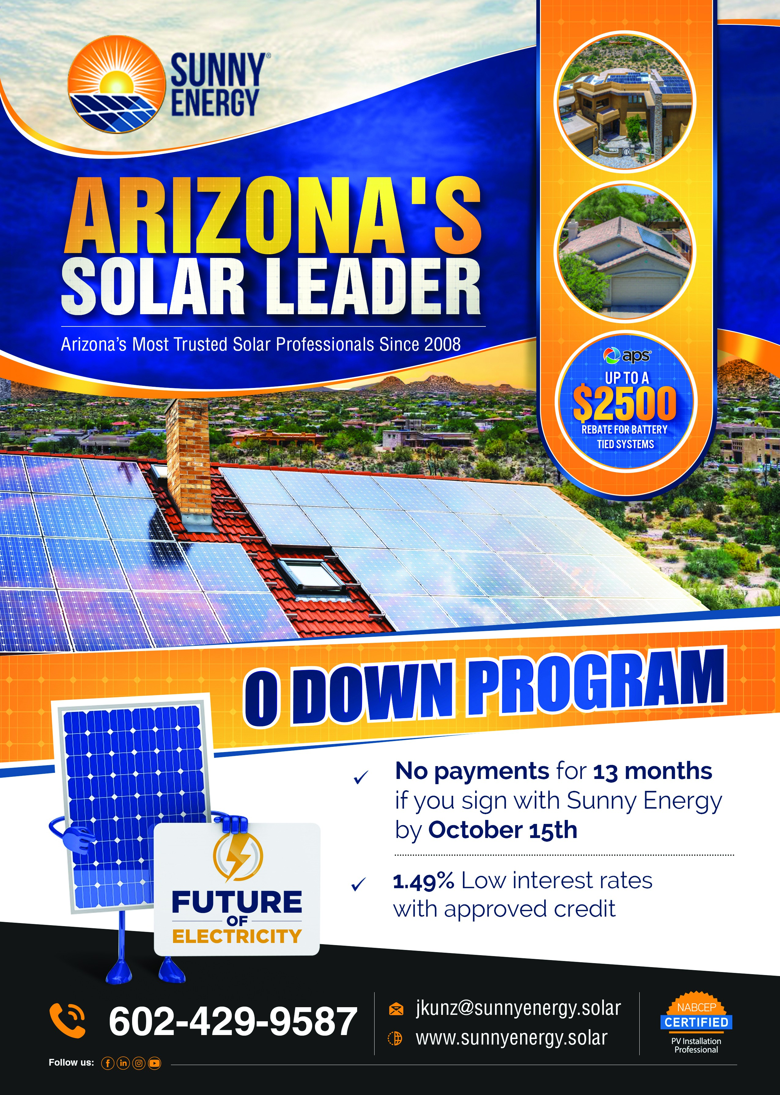 Flyer for Solar in Arizona to appeal to new homeowners