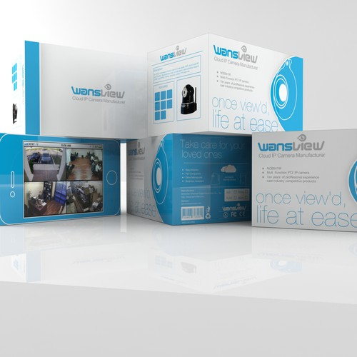 Help Wansview with a new ip camera product packaging