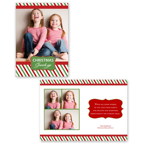 """Picaboo 5"""" x 7"""" Folded Christmas Card (will award up to 25 designs!)"""