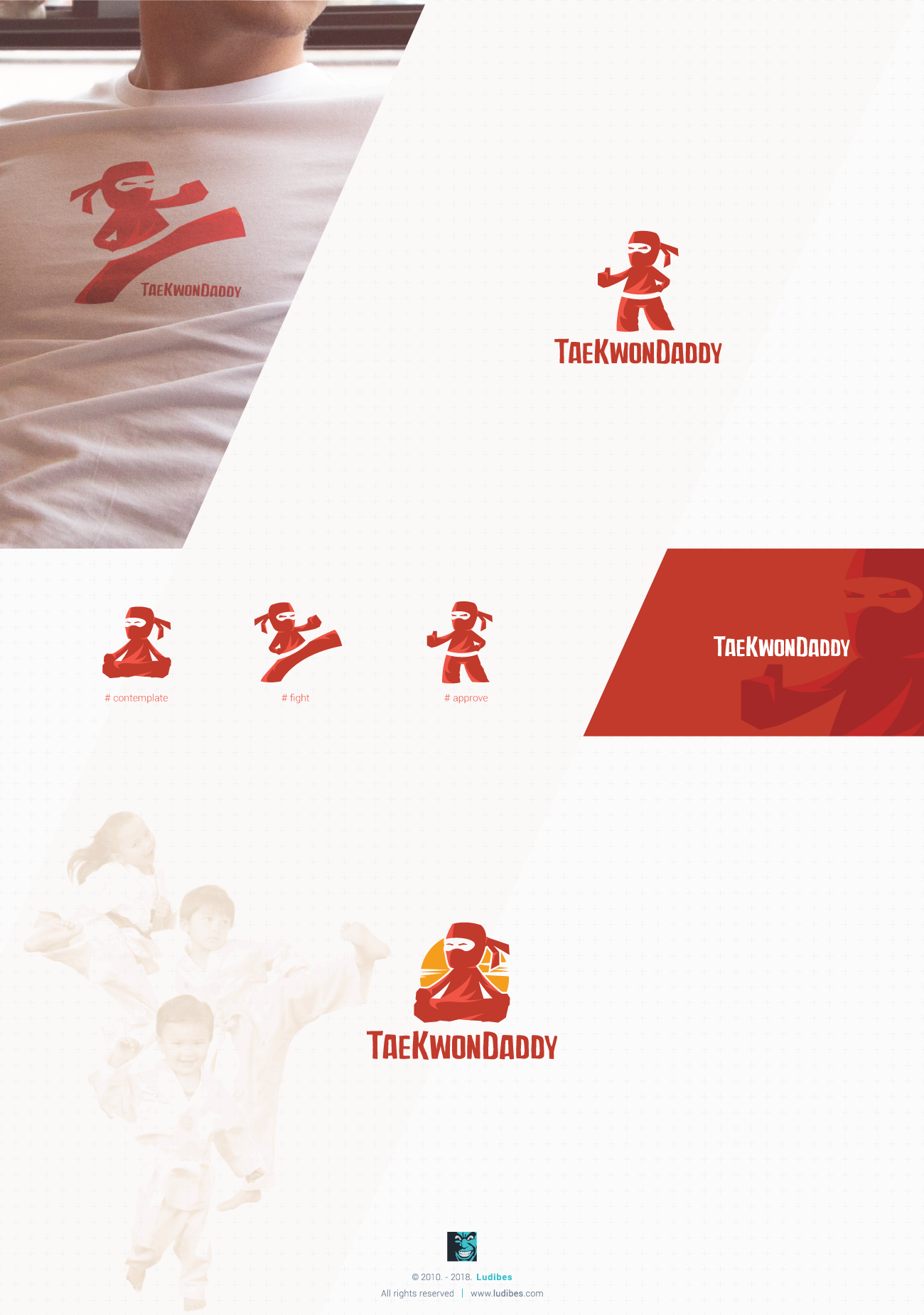 taekwondaddy logo design