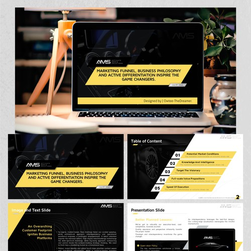 """PowerPoint Design for the """"Activate Media Solutions"""" Project."""