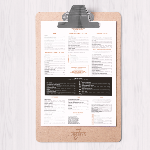 Jimmy's clan menu design