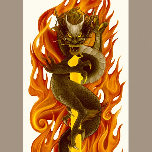 KURI-KARA tattoo sleeve.