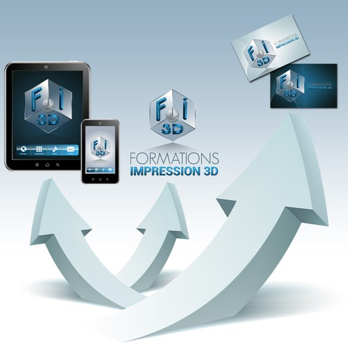 Création de logo pour un organisme de formation spécialisé dans l'impression 3D