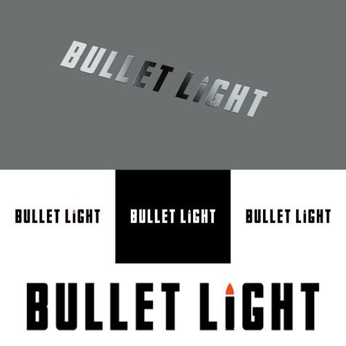 Bullet light logo design.