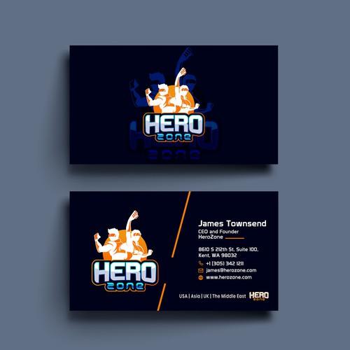Gaming business card design