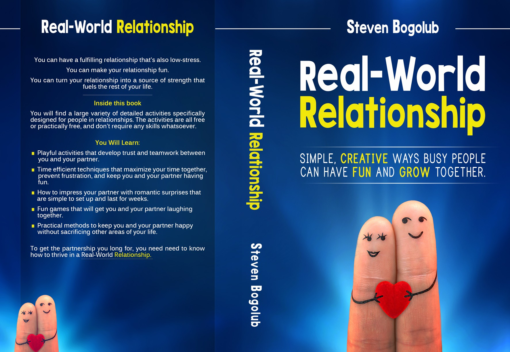 """Book Cover for """"Real-World Relationship"""" a Creative and Practical Relationship Activity Guide"""