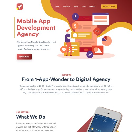 Mobile Apps development website design