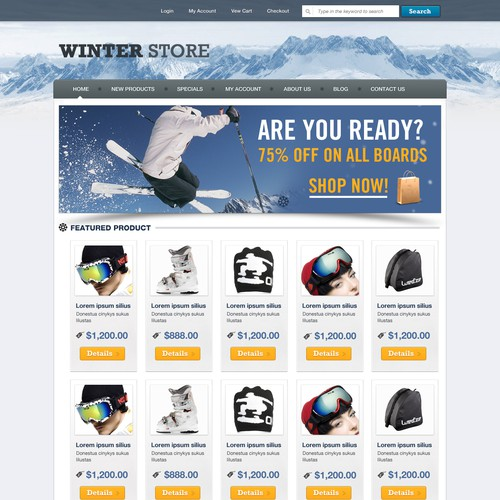 Ecommerce Shop Template