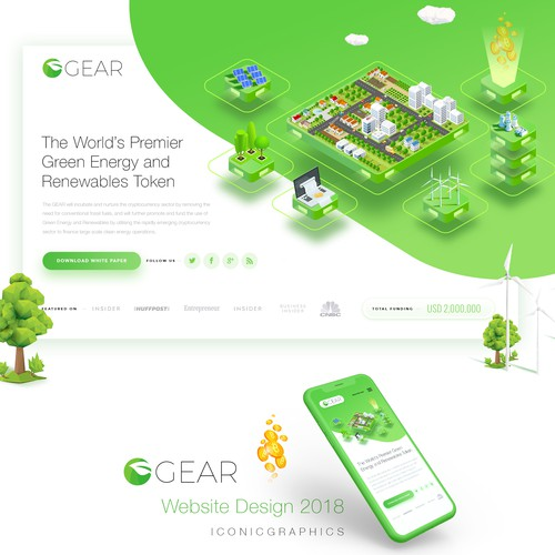 Blockchain Cryptocurrency ECO Green Company