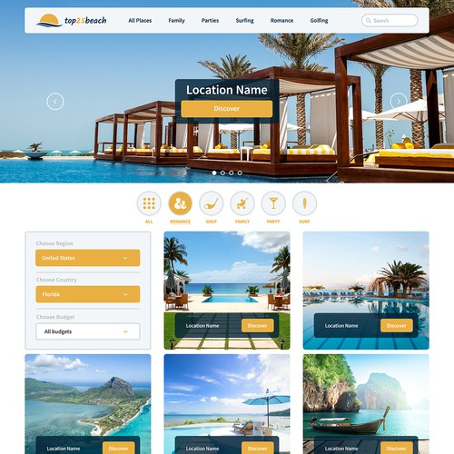 Find the best beach for yor holiday