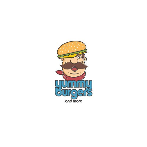 Character Logo For Burger