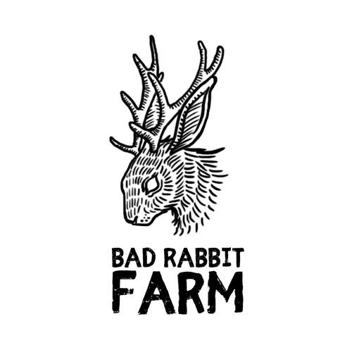 Traditional Tattoo inspired logo for Bad Rabbit Farm (start-up, organic vegetable farm)