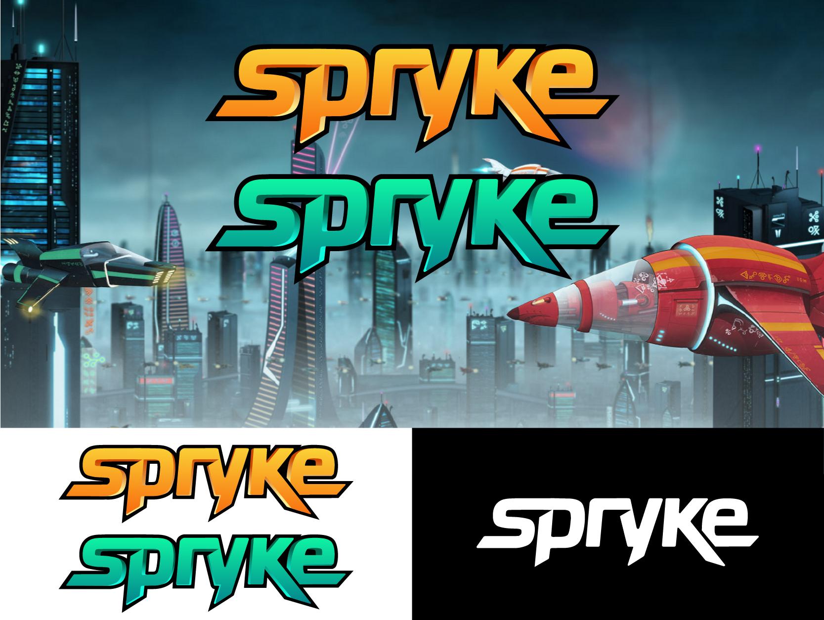 Create a slick logo for a scifi videogame