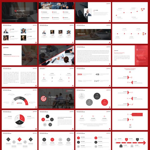 Powerpoint Template for RedWood Capital