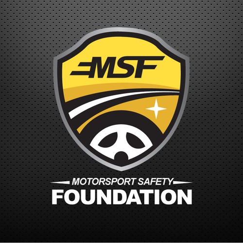 Create a captivating logo for a Car Racing Safety Foundation!