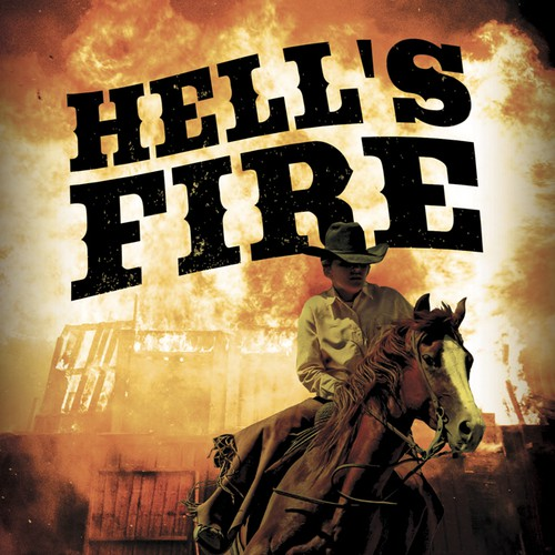 "book cover for Western novel ""Hell's Fire"""