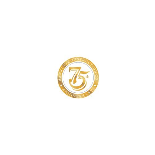 Logo for Hankins Construction Co. 75th Anniversary