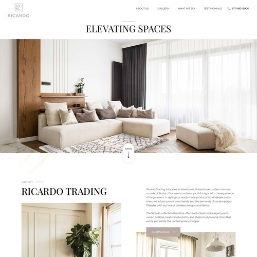 Home Design Website for wholesaler of curtains, drapes, & roman shades.