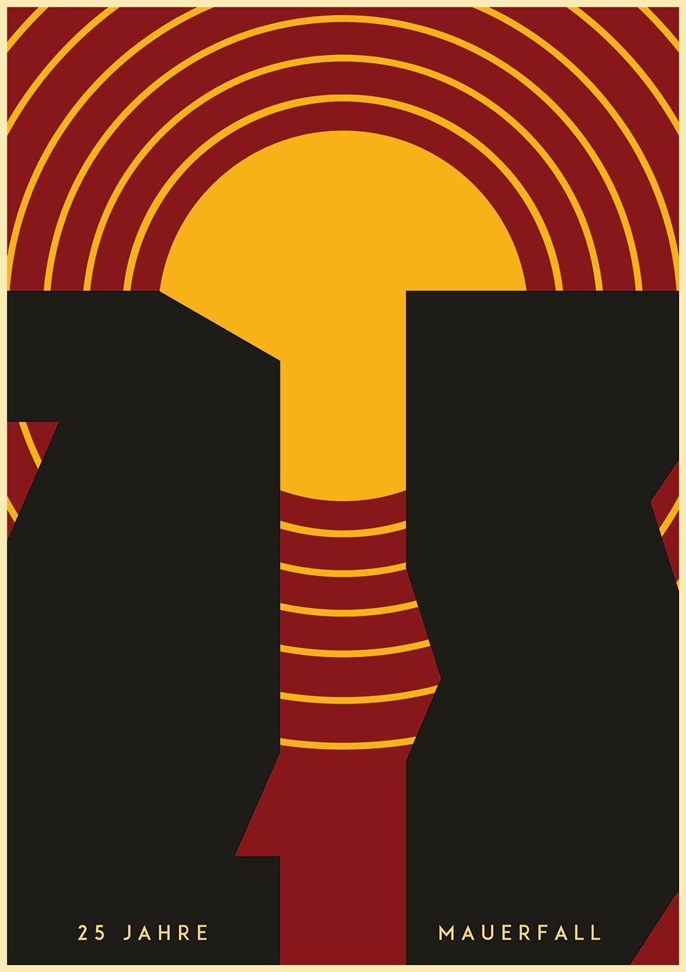 99designs Community Contest: 25 Jahre Mauerfall - Plakat zur Wiedervereinigung