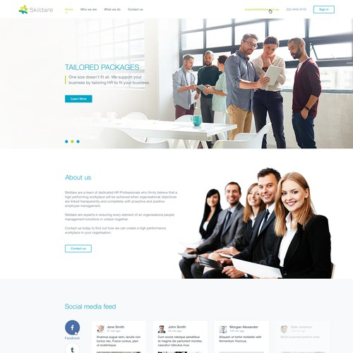 Homepage Design For a HR company