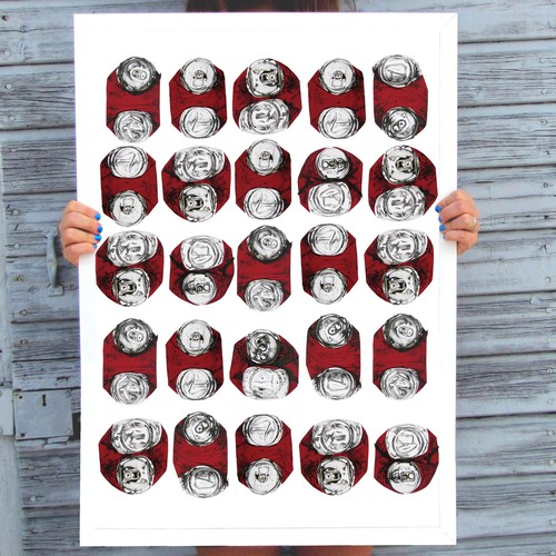 red cans poster